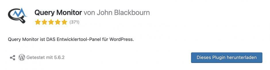 query monitor Meine Lieblings-WordPress-Plugins