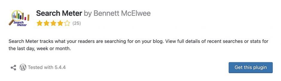 search meter Meine Lieblings-WordPress-Plugins