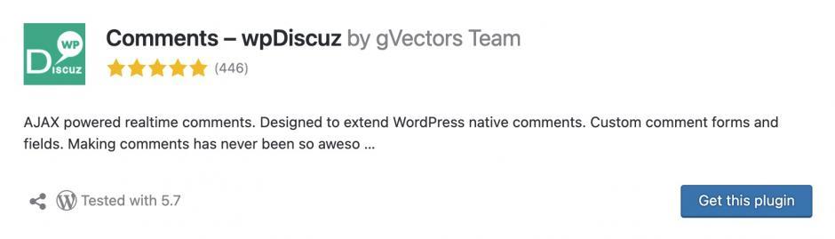 wpDiscuz Meine Lieblings-WordPress-Plugins