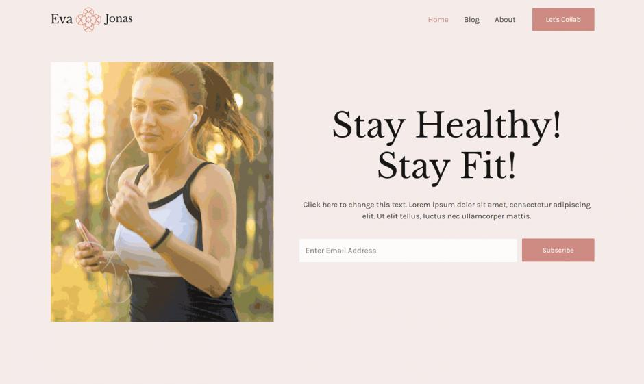 Astra 3.0 Layout Health and Fitness