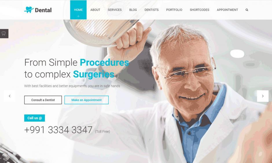WordPress Theme Dental Clinic