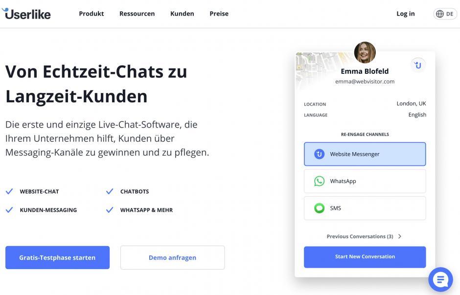 Userlike Echtzeit Chat