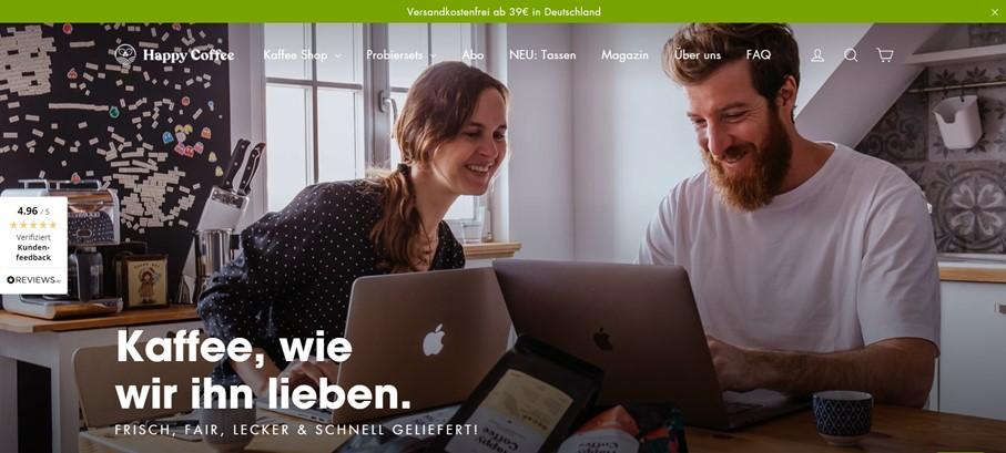 Happy Coffee Über-uns-Seite: Welche Inhalte für Wachstum sorgen