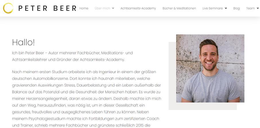Peter Beer Über-mich-Texte: Beispiele, Anleitung und Tipps
