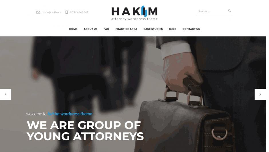"WordPress Theme ""Hakim"""