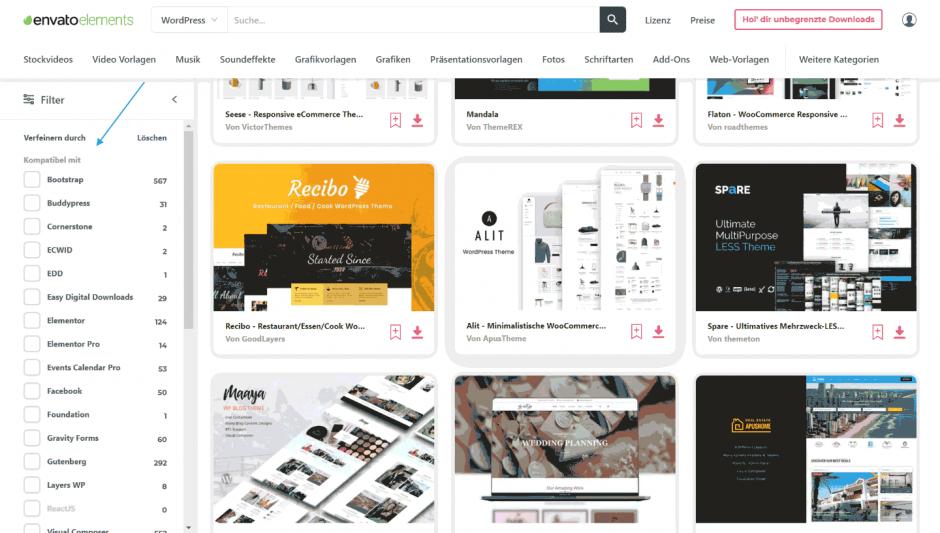 Envato WordPress-Themes