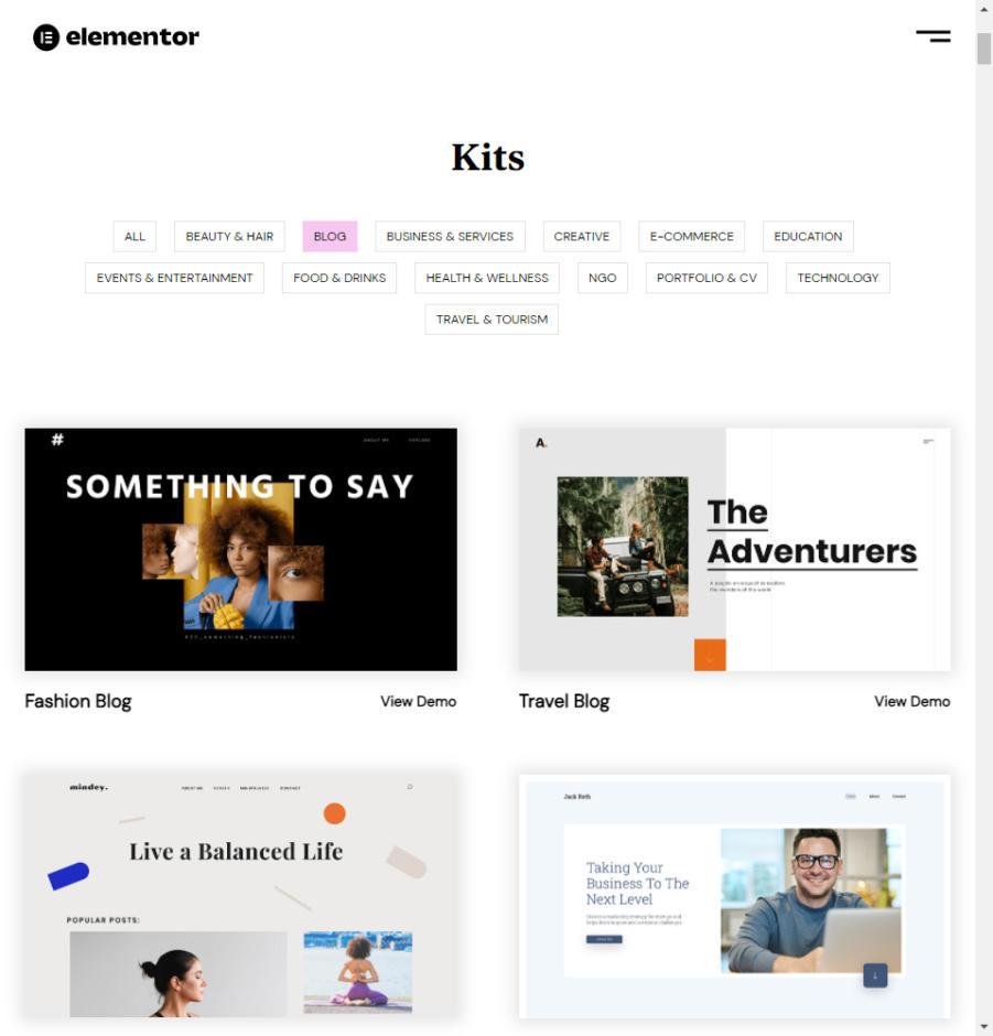 Elementor Pro Review: SiteKits