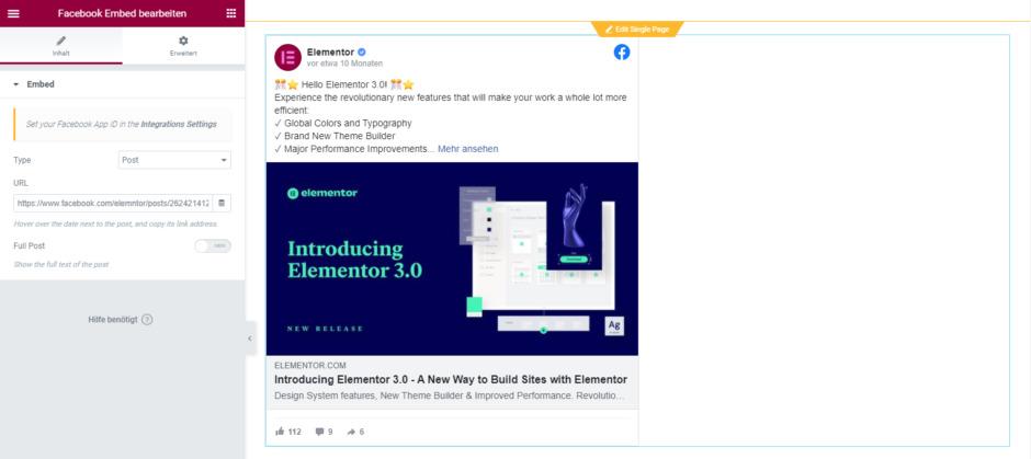 elementor widget facebook embed Elementor Pro versus Free: Für wen lohnt sich die Pro-Version?
