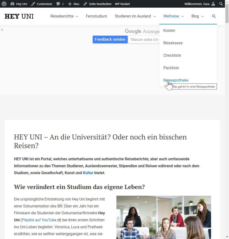 Demo-Seite für unseren Testbericht: Hey-Uni.de