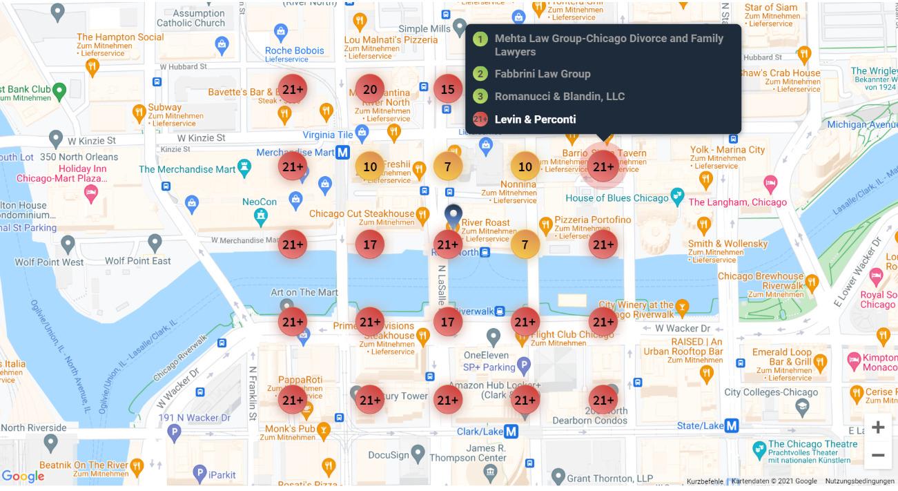 Gitteransicht Local Search Grid