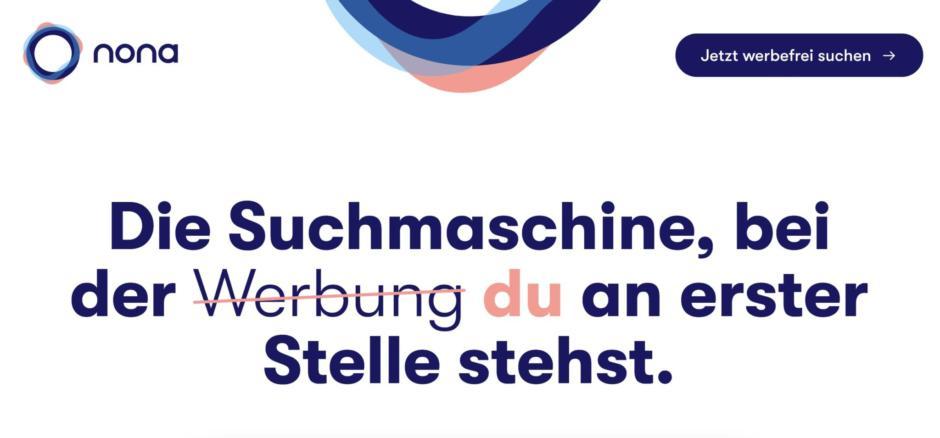nona werbefreie Suchmaschine aus Deutschland startet!