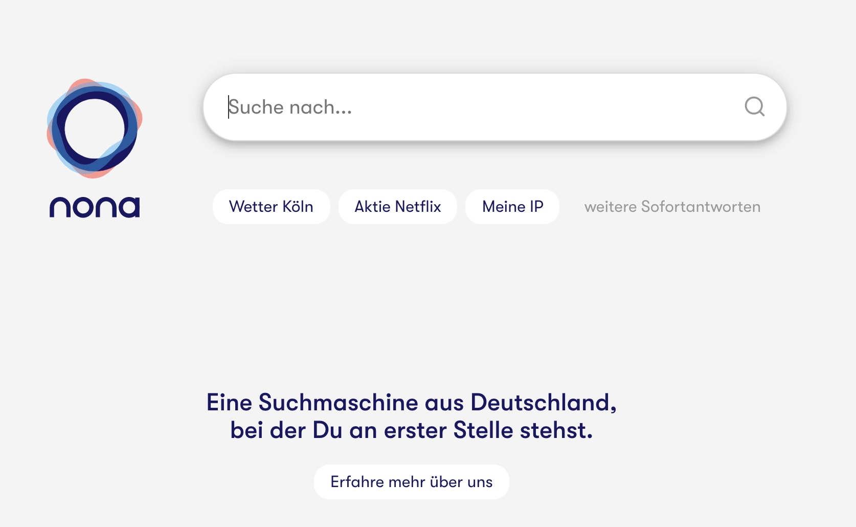 Die werbefreie Suchmaschine nona aus Deutschland