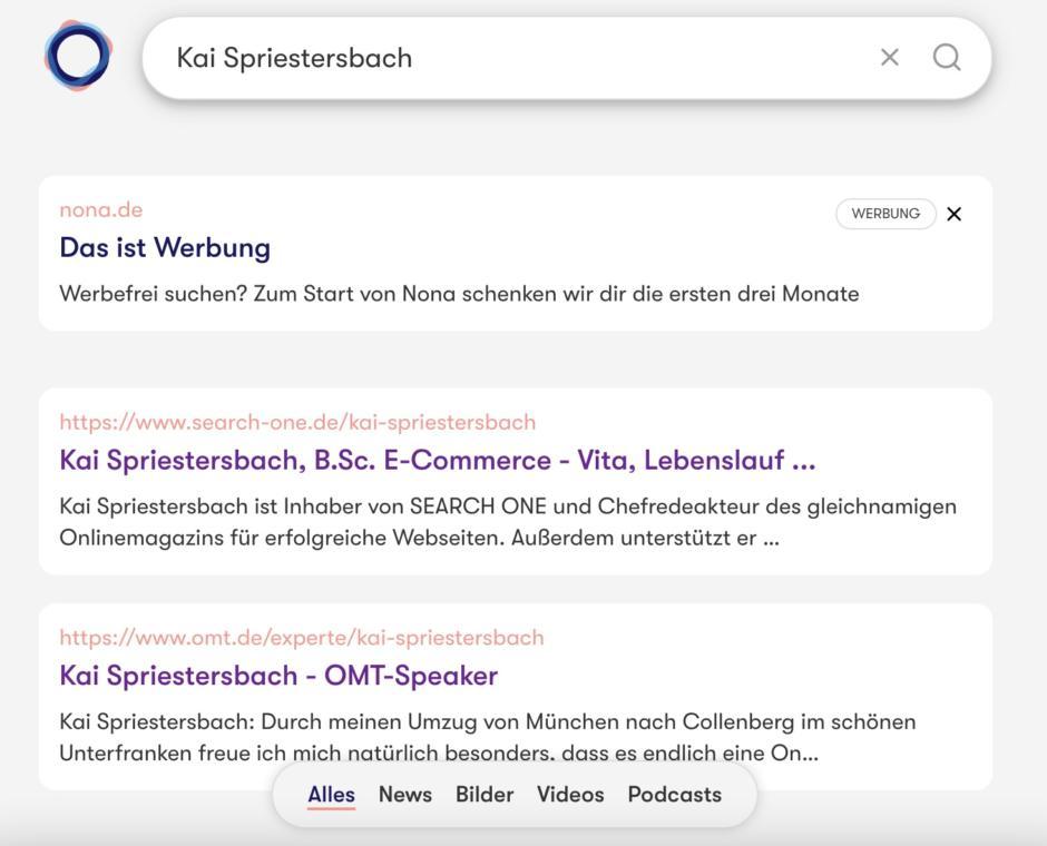 Web-Suche nach Kai Spriestersbach bei Nona