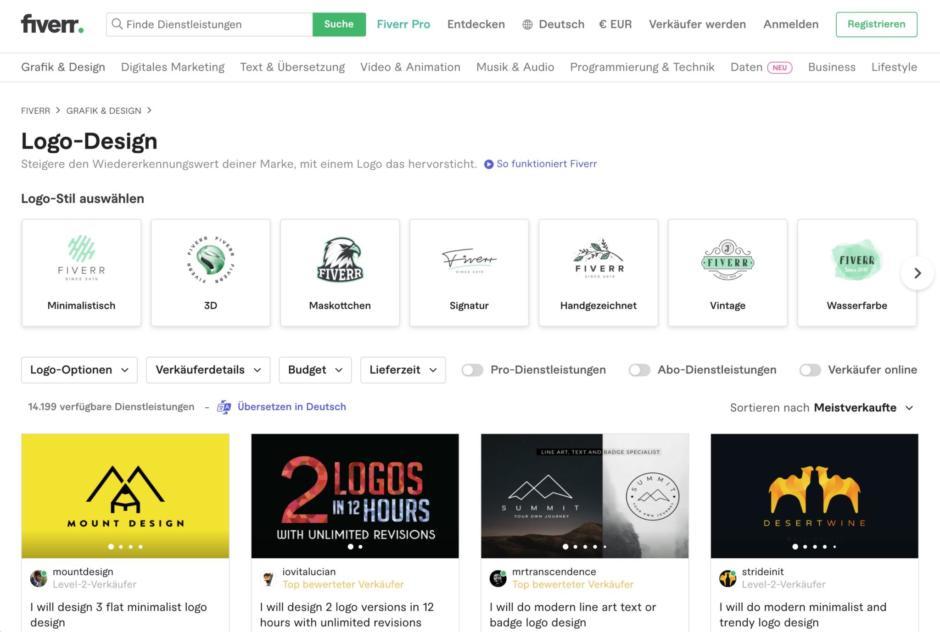 Logo-Designer auf Fiverr