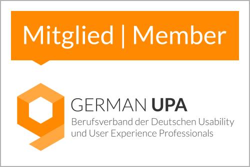 Mitglied im Berufsverband der Deutschen Usability und User Experience Professionals - German UPA e.V.