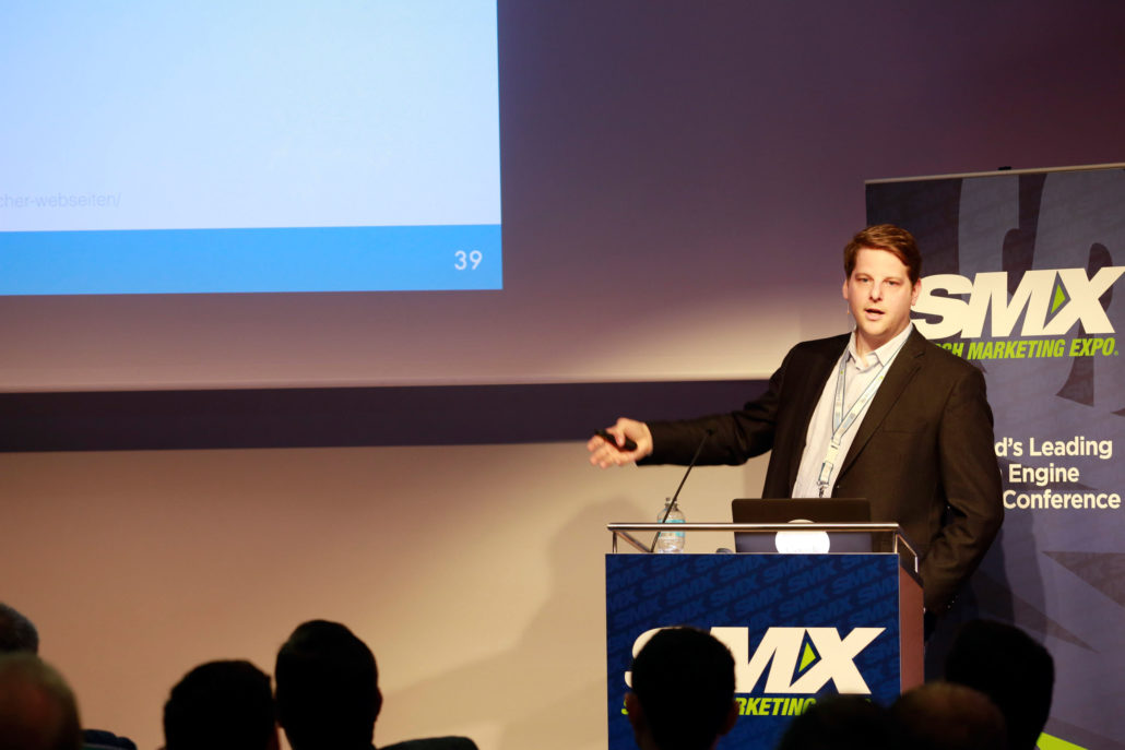 Kai Spriestersbach als Referent der SMX München 2015