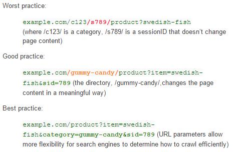 Parameter, welche den Inhalt der Seite nicht verändern
