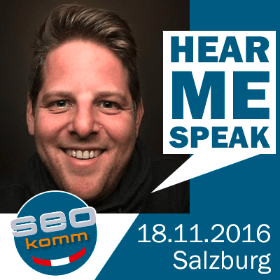 Hear me Speak at SEOkomm 2016!