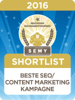 Nominiert beim SEMY Award 2016