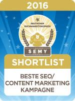 Nominiert beim SEMY Award 2016
