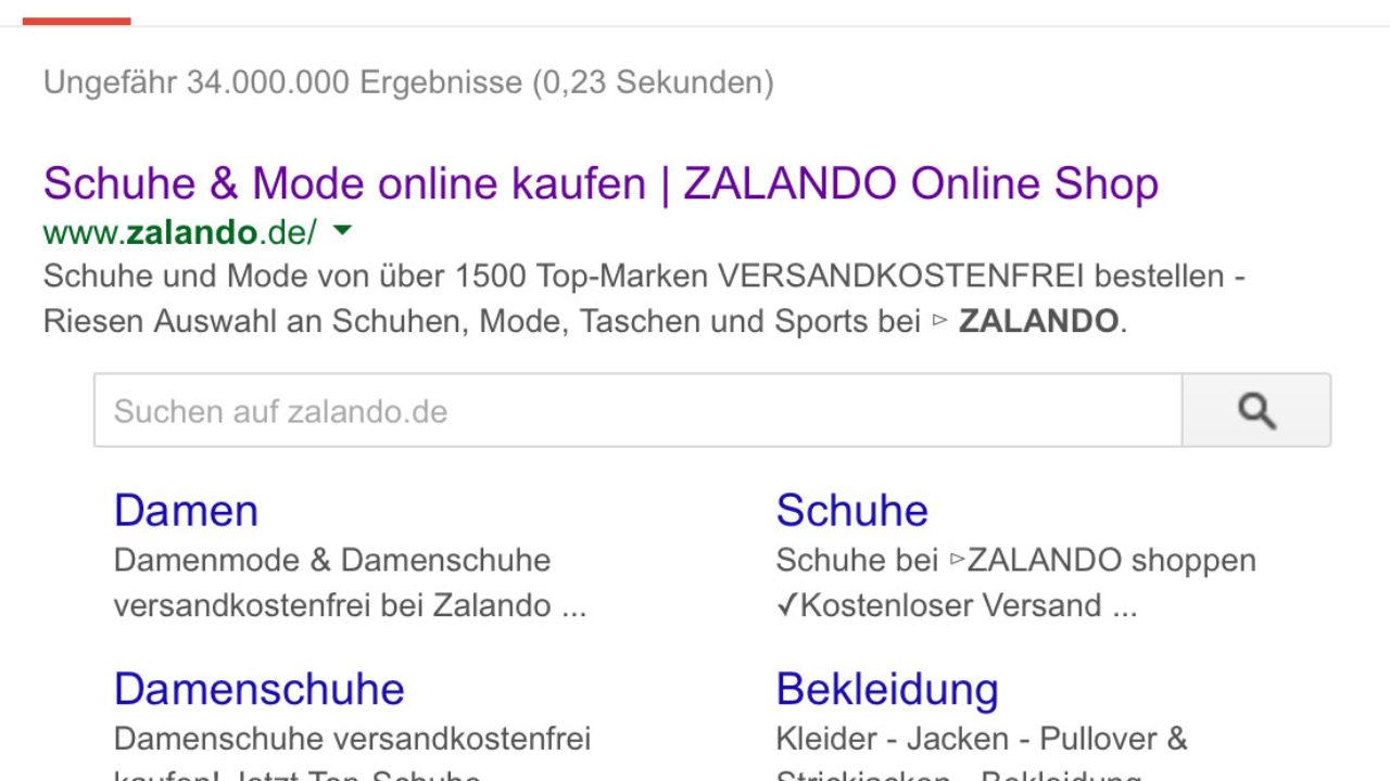 Tutorial Sitelinks Search Box Interne Suche im Suchergebnis