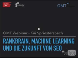 webinar rankbrain Video: Webinar RankBrain, Machine Learning und die Zukunft von SEO